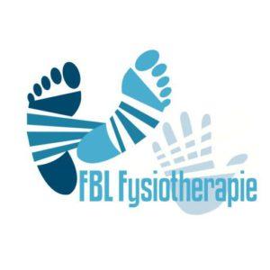 logo flb fysiotherapie 2 voeten en 1 hand